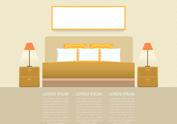 Headboard Bedroom and Furniture Page Template - Free vector #442775