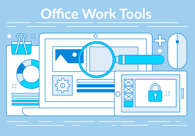 Free Linear Office Tools Elements - Free vector #442835
