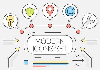 Free Linear Style Web Icons - vector gratuit #442925