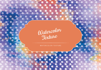 Vector Watercolor Dotted Texture - Free vector #442945