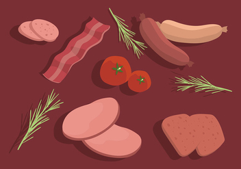 Charcuterie Table Set Free Vector - vector gratuit #442955