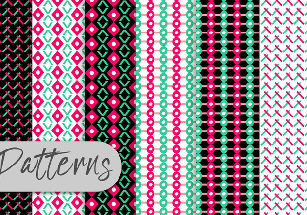 Colorful Geometric Pattern Set - Free vector #442975