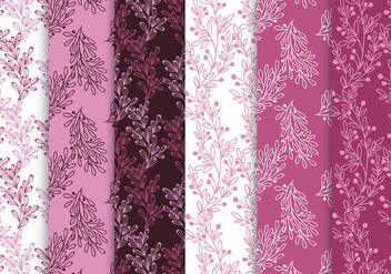 Pink And Purple Pattern Set - Free vector #442995