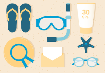 Free Summer Vacation Background - vector gratuit #443095