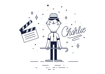 Free Charlie Chaplin Vector - Free vector #443125