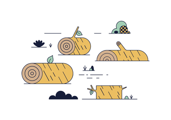 Free Wood Log Vector - vector #443195 gratis