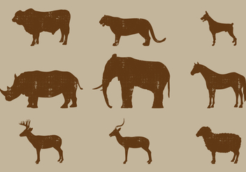 Mammal silhouettes - Kostenloses vector #443295