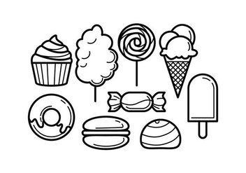 Free Sweet Food Line Icon Vector - Free vector #443305