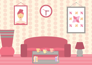 Beauty Clinic Waiting Room Vector - Kostenloses vector #443315
