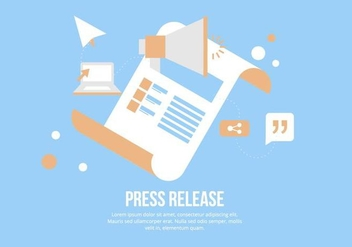 Press Release Illustration - vector gratuit #443335