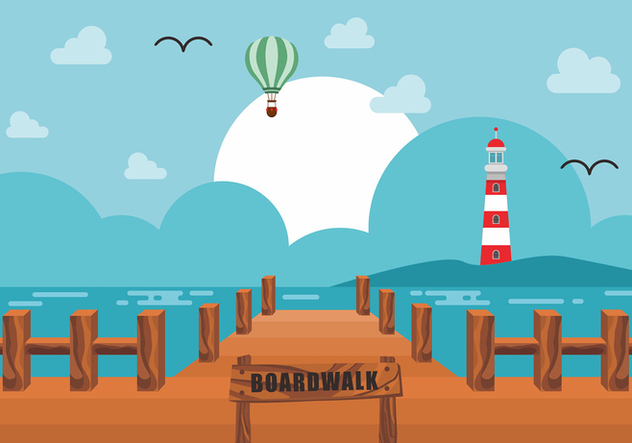 Boardwalk Vector Design - vector gratuit #443445