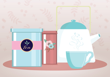 Tea Party Vector - vector #443465 gratis
