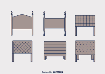 Headboard Vector Set - Kostenloses vector #443475