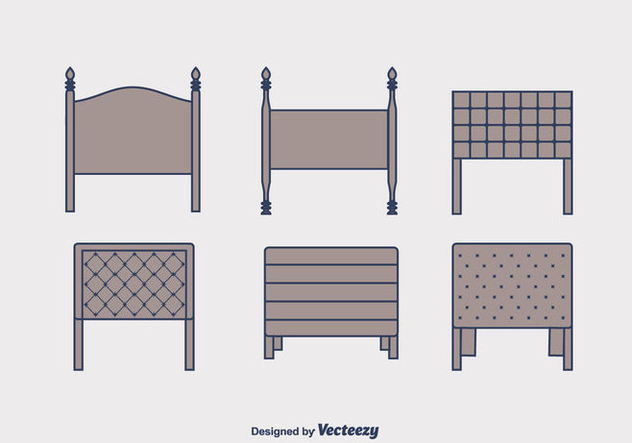 Headboard Vector Set - vector gratuit #443475