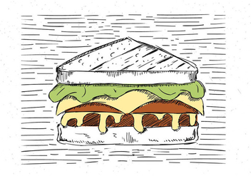 Free Hand Drawn Vector Sandwich Illustration - Free vector #443515
