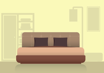Modern Headboard Bedroom and Furniture - vector #443525 gratis