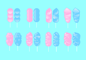 Sweet Candy Floss Free Vector - Free vector #443555