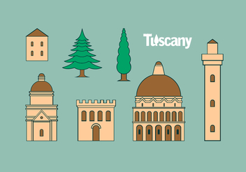 Tuscany Icon Set Free Vector - Free vector #443565