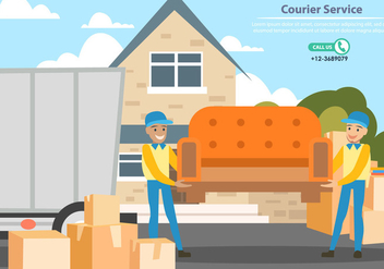 Delivery Man Services - vector gratuit #443605