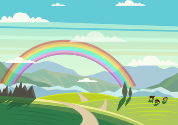 Beautiful Tuscany Landscape - бесплатный vector #443675