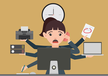 Multitasking Deadline Free Vector - бесплатный vector #443895