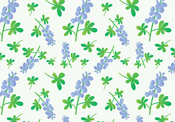 Bluebonnet Flower Pattern - vector #443905 gratis