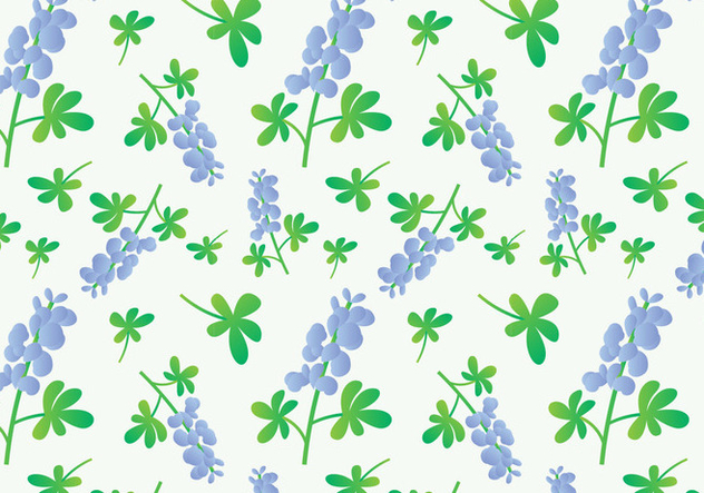 Bluebonnet Flower Pattern - vector gratuit #443905