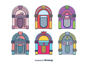 Jukebox Vector Set - Kostenloses vector #443925