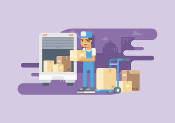 Movers Service Illustration - vector #443945 gratis