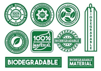 Biodegradable vector stamp set - Free vector #444015