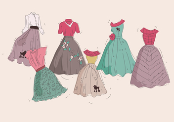 Poodle Skirt Classic Vector - vector #444025 gratis
