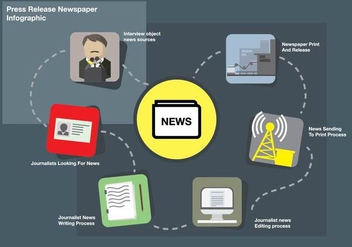 Press Release Journalist Infographic - vector gratuit #444045