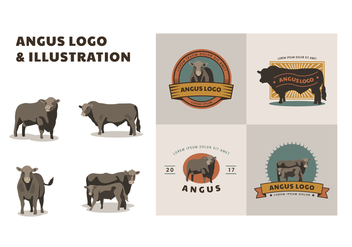 Free Angus Logo and Illustration - бесплатный vector #444055