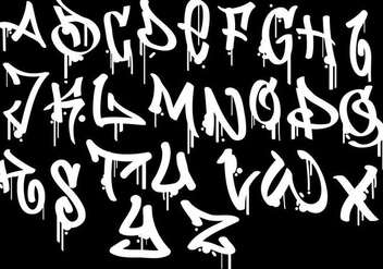Graffiti Alphabet - vector gratuit #444065