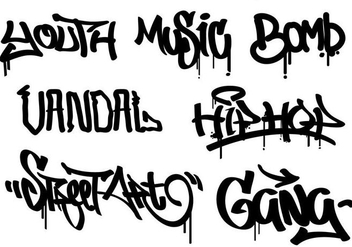 Graffiti Set - vector gratuit #444075