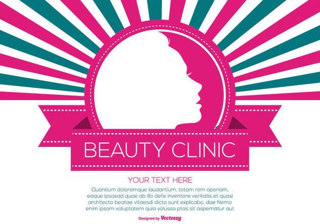 Retro Style Beauty Clinic Illustration - vector #444085 gratis