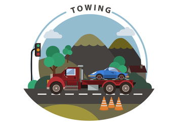 Free Towing Vector Illustration - бесплатный vector #444125
