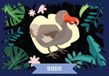 Dodo Bird Vector Illustration - Kostenloses vector #444165