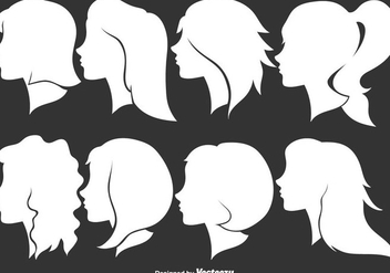Woman Profile Silhouettes - Vector Illustration - бесплатный vector #444215