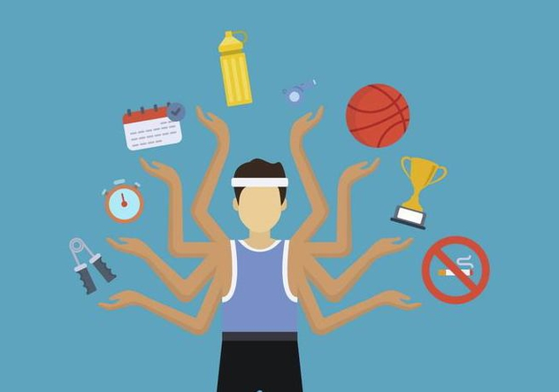 Flat People Multitasking Vectors - Free vector #444225