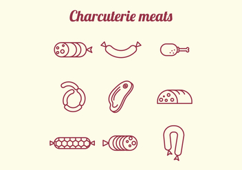 Charcuterie Meats Icons - Kostenloses vector #444265