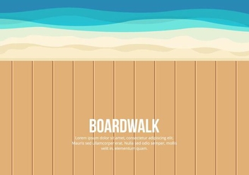 Boardwalk Illustration - Free vector #444275