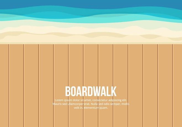 Boardwalk Illustration - бесплатный vector #444275