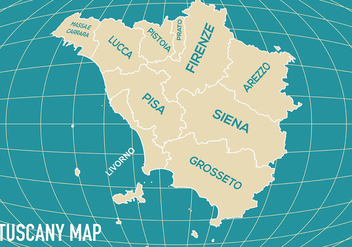 Tuscany Map Vector - Free vector #444285