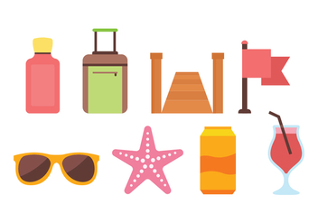 Beach Icon Pack - vector gratuit #444295