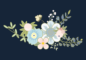 Flower Bouquet Vector - vector #444325 gratis