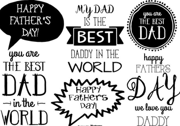 Hand Drawn Father's Day Label Collection - Kostenloses vector #444395