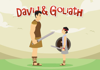 David and Goliath Vector - бесплатный vector #444415