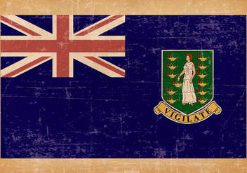 Old Grunge Flag of UK Virgin Islands - Free vector #444425