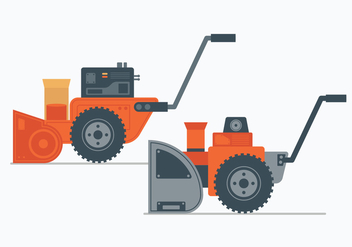 Snow Blower Illustration - Free vector #444475